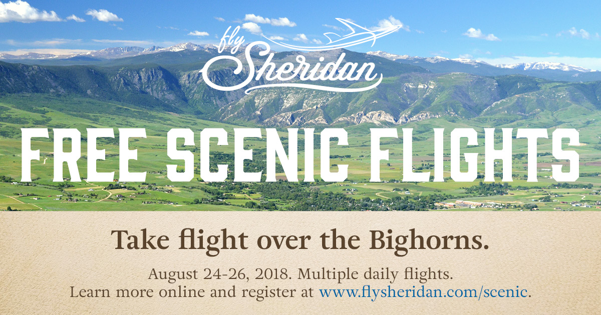 Fly Sheridan Scenic Flights August 2018 graphic